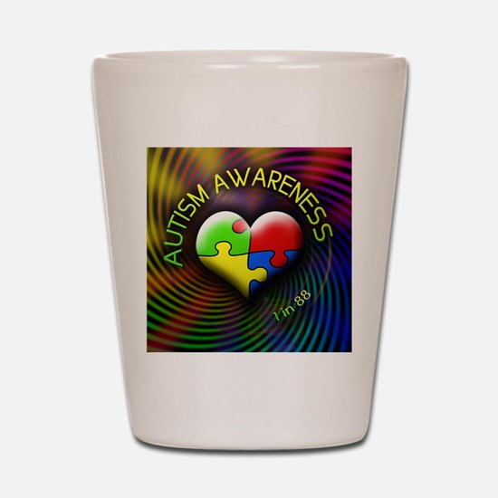 autismawareness-1in88-roundorsquare Shot Glass