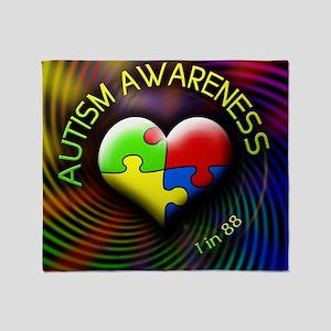 autismawareness-1in88-roundorsquare Throw Blanket