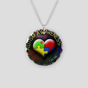 autismawareness-1in88-roundo Necklace Circle Charm