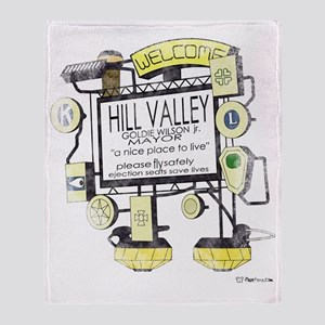 Welcome to Hill Valley Throw Blanket