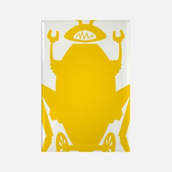roachbotSolo_mustard1 Rectangle Magnet