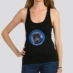 Owned by a Sharpei - Blue Racerback Tank Top