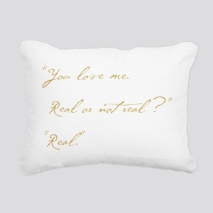 you love me real Rectangular Canvas Pillow