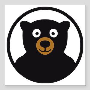 """Bear B 04_2012 2c Square Car Magnet 3"""" x 3"""""""