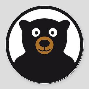 Bear B 04_2012 2c Round Car Magnet