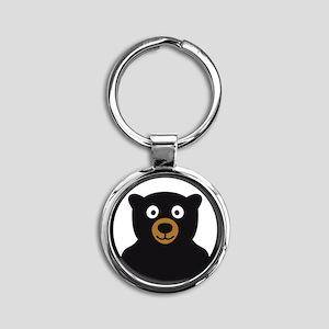 Bear B 04_2012 2c Round Keychain