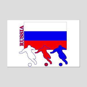 Russia Soccer Mini Poster Print