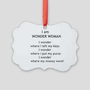 wonderwoman2 Picture Ornament