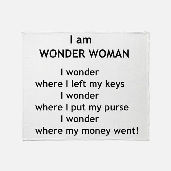 wonderwoman2.png Throw Blanket