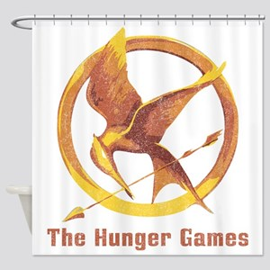 The Hunger Games Orange 2 Shower Curtain