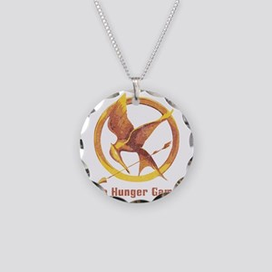 The Hunger Games Orange 2 Necklace Circle Charm