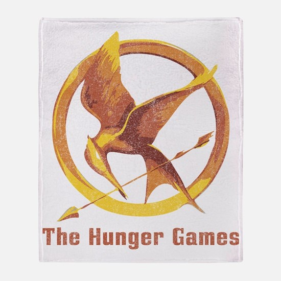 The Hunger Games Orange 2 Throw Blanket