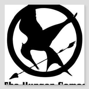 """The Hunger Games 3 Square Car Magnet 3"""" x 3"""""""