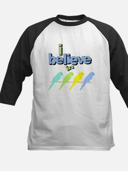 I believe in birds Kids Baseball Jersey