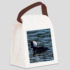 hooded merganser 2nd crop 2000x20 Canvas Lunch Bag