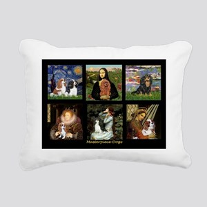 MPDogs6-Cavalier Rectangular Canvas Pillow