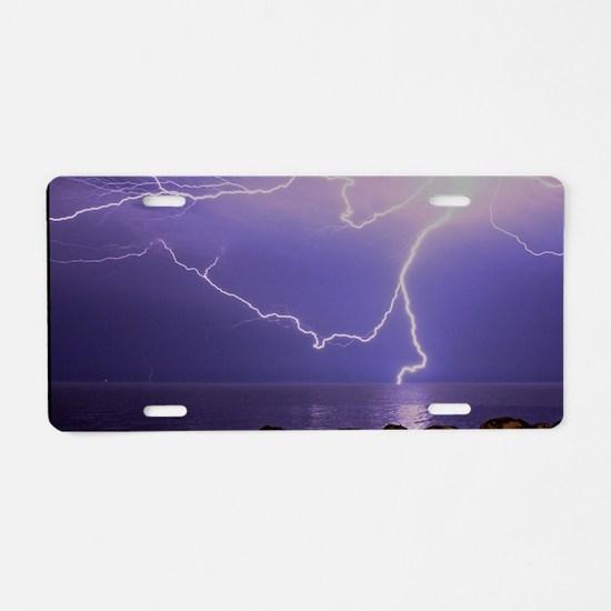 Pershing Strike Aluminum License Plate