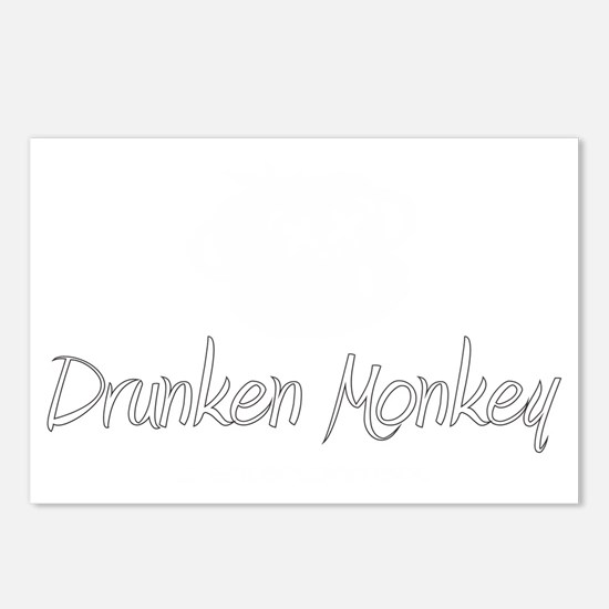 white logo Postcards (Package of 8)