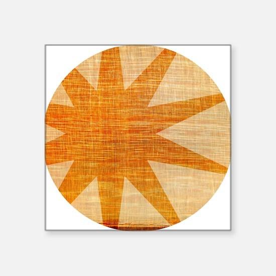 "Sunburst Square Sticker 3"" x 3"""