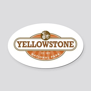 Yellowstone National Park Oval Car Magnet