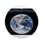 Earth Day Earthrise Ornament (Round)