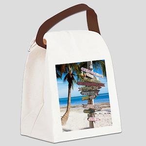 KeyWestSign7100 Canvas Lunch Bag