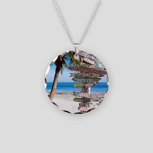 KeyWestSign7100 Necklace Circle Charm