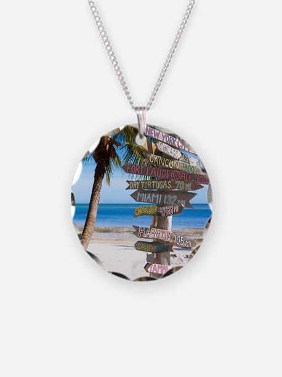 KeyWestSign7100 Necklace