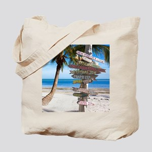 KeyWestSign7100 Tote Bag