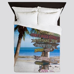 KeyWestSign7100 Queen Duvet