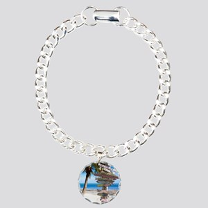 KeyWestSign7100 Charm Bracelet, One Charm