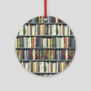 Bookshelf7100 Round Ornament