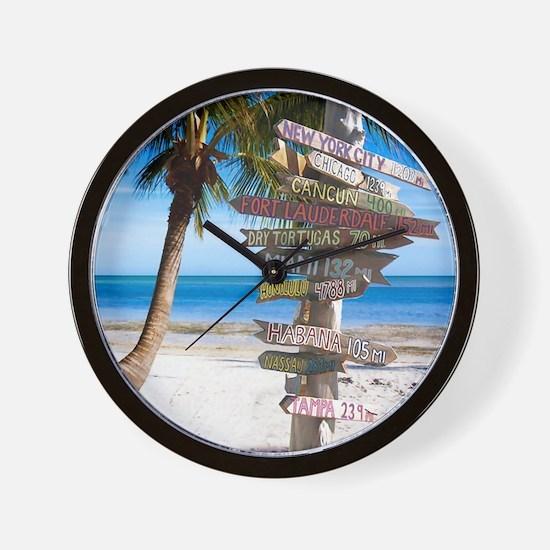 KeyWestSign7100 Wall Clock