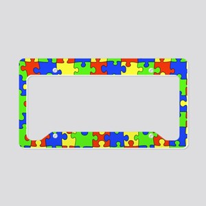 uniquepuzzle-10x6 License Plate Holder