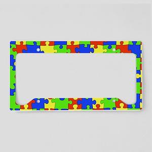 uniquepuzzle-10x6 License Plate Holder