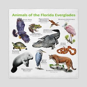 Animals of the Florida Everglades Queen Duvet