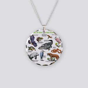 Animals of the Florida Everg Necklace Circle Charm