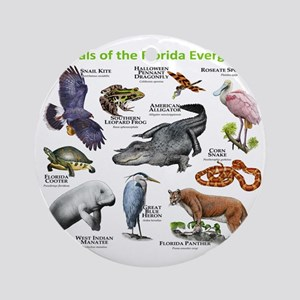 Animals of the Florida Everglades Round Ornament