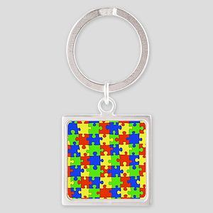 uniquepuzzle-10x8 Square Keychain