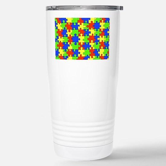 uniquepuzzle-10x8 Stainless Steel Travel Mug