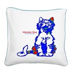 Funny Hello Meoow Square Canvas Pillow