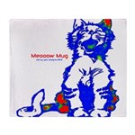 Funny Hello Meoow Throw Blanket