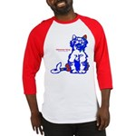 Funny Hello Meoow Men's Baseball Jersey