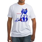 Funny Hello Meoow Men's Fitted T-Shirt