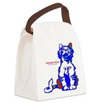 Funny Hello Meoow Canvas Lunch Bag