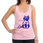 Funny Hello Meoow Racerback Tank Top