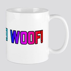 LICK ME! WOOF!/RAINBOW LETTER Mug
