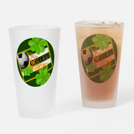 celtic-football-3-in-button Drinking Glass