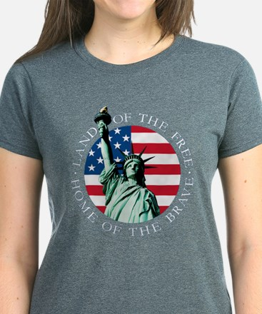 Liberty With Flag Women's (click For T-Shirt