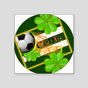 """celtic-football-3-in-button Square Sticker 3"""" x 3"""""""